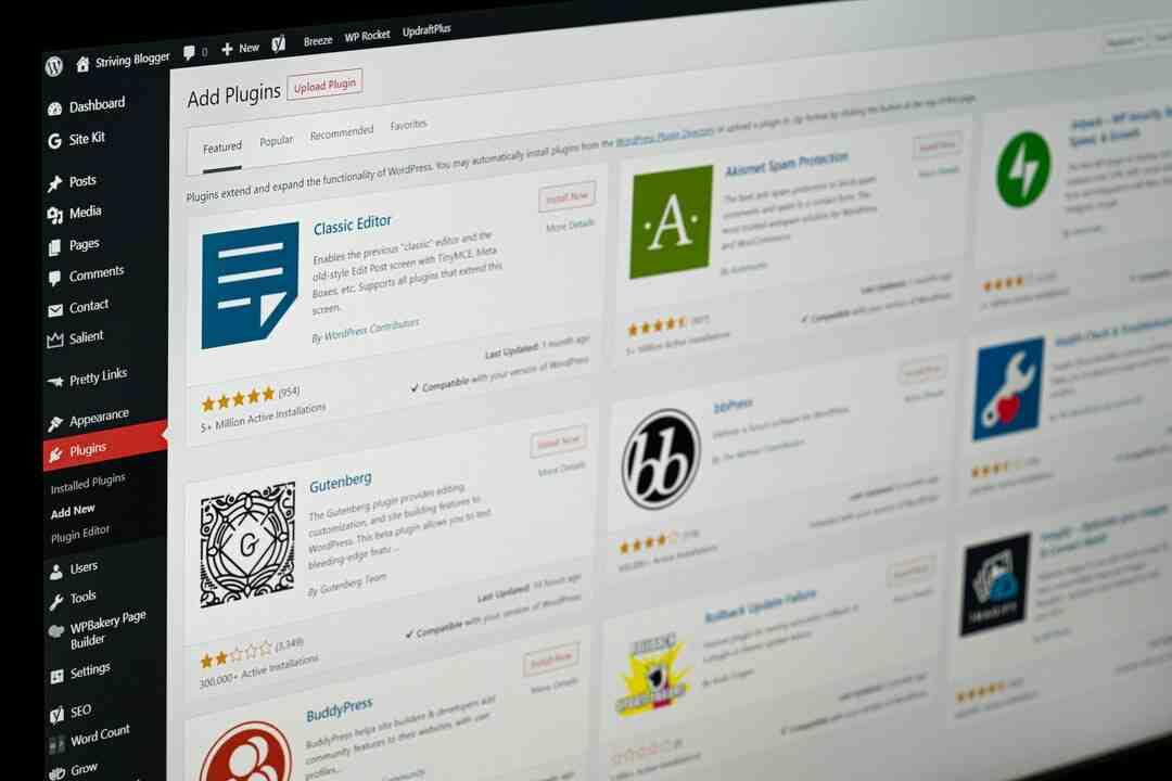 Wordpress comment créer un menu